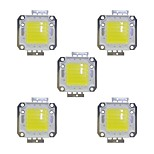 Недорогие -50w cob 3800lm 3000-3200k / 6000-6200k теплый белый / белый светодиодный чип dc30-36v 5шт.