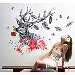 Недорогие -Животные абстракция Наклейки 3D наклейки Декоративные наклейки на стены,Бумага Украшение дома Наклейка на стену Стена