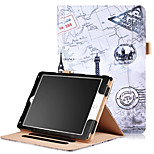 cheap -Case For Apple iPad Air 2 Card Holder Wallet with Stand Pattern Auto Sleep/Wake Up Full Body Cases Solid Color Eiffel Tower Hard PU