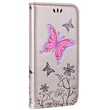 cheap -Case For Huawei P8 Lite (2017) P10 Lite Card Holder Wallet with Stand Flip Embossed Full Body Butterfly Hard PU Leather for P10 Lite P9