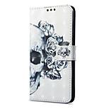 Недорогие -Кейс для Назначение OnePlus 5 OnePlus 5T Кошелек Бумажник для карт со стендом Флип С узором Магнитный Чехол Черепа Твердый Искусственная