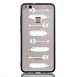 cheap -Case For Huawei P8 Lite (2017) P10 Lite Transparent Embossed Pattern Back Cover Feathers Hard PC for P10 Lite P9 Lite P8 Lite (2017)