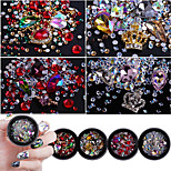 cheap -Rhinestones Nail Jewelry Nail Glitter Fashionable Jewelry Luxury Jeweled Pattern Nail Art Design