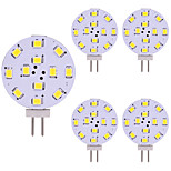 cheap -5pcs 2W 180lm G4 LED Bi-pin Lights 12 LEDs SMD 2835 LED Lights Warm White Cold White 2800-3500;5000-6500K AC/DC 12V