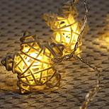 Недорогие -Не водонепроницаемый 10 светодиоды 1M String Light Тёплый белый Белый Декоративная Аккумуляторы