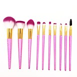 cheap -10 pcs Makeup Brush Set Blush Brush Eyeshadow Brush Lip Brush Eyeliner Brush Eyelash Brush Powder Brush Foundation Brush Nylon