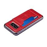 abordables -Funda Para Samsung Galaxy Xiaomi S8 Plus S8 Soporte de Coche con Soporte Funda Trasera Color sólido Dura Cuero de PU para S8 Plus S8