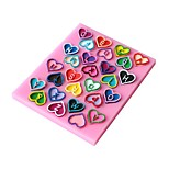 Недорогие -3d сердце письма формы торт плесень жидкий силиконовый пресс-помада выпечки украшения инструменты
