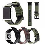 Недорогие -Ремешок для часов для Apple Watch Series 3 / 2 / 1 Apple Повязка на запястье Современная застежка Нейлон Натуральная кожа