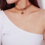 Недорогие -Жен. Звезда Нарядная одежда Мода Ожерелья-бархатки Кулоны , Сплав Ожерелья-бархатки Кулоны , Повседневные Новый год