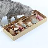 Недорогие -Кошка Игрушка для котов Игрушки для животных Интерактивные игрушки Стресс и тревога помощи колокольчик Мышь Ткань Для домашних животных