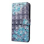 Недорогие -Кейс для Назначение OnePlus 5 OnePlus 5T Кошелек Бумажник для карт со стендом Флип С узором Магнитный Чехол Цветы Твердый Искусственная
