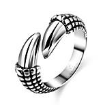 Недорогие -Муж. Классические кольца , Мода нержавеющий Геометрической формы Бижутерия Подарок Повседневные