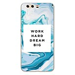 cheap -Case For Huawei P10 Plus P10 Lite Pattern Back Cover Word / Phrase Marble Soft TPU for P10 Plus P10 Lite P10 P9 P9 Lite P9 Plus P8 P8