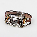 cheap -Men's Bangles , Classic Fashion Leather Alloy Bowknot Jewelry Daily