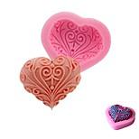 Недорогие -свадьба любовь сердце форма силиконовые плесень ручной работы мыло выпечки fondend формы торт украшения инструменты