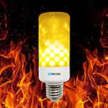 Недорогие -brelong e27 / e14 / b22 2835 99leds огонь пламени лампа накаливания ac 85 - 265v