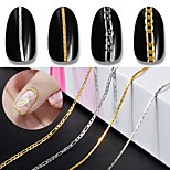 cheap -Jewelry Design Metallic Accessories Silver Gold Chain Nail Art Design