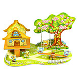 cheap -Model Building Kits Toys Rectangle Fairytale Theme Animal Hand-made Parent-Child Interaction Exquisite Soft Plastic Kids Adults' 1 Pieces