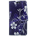 cheap -Case For Huawei P9 Card Holder Wallet with Stand Flip Full Body Flower Hard PU Leather for P9