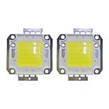 Недорогие -50w cob 3800lm 3000-3200k / 6000-6200k теплый белый / белый светодиодный чип dc30-36v 2шт