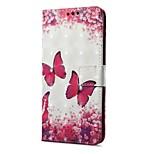 Недорогие -Кейс для Назначение OnePlus 5 OnePlus 5T Кошелек Бумажник для карт со стендом Флип Магнитный С узором Чехол Бабочка Твердый Искусственная