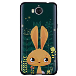 cheap -Case For Huawei Y6 (2017)(Nova Young) Y5 III(Y5 2017) Pattern Back Cover Rabbit/Bunny Soft Silicone for Huawei Y6 (2017)(Nova Young)