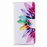 Недорогие -Кейс для Назначение Nokia Nokia 8 Nokia 6 Кошелек Бумажник для карт со стендом Флип С узором Чехол Цветы Твердый Искусственная кожа для
