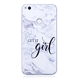 cheap -Case For Huawei P8 Lite (2017) P10 IMD Pattern Back Cover Word / Phrase Marble Soft TPU for P10 P9 Lite P8 Lite P8 Lite (2017) Honor 9