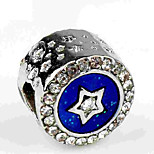 cheap -DIY Jewelry 1 pcs Beads Imitation Diamond Alloy Silver Round Bead 0.6 cm DIY Necklace Bracelet