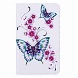 cheap -Butterfly Pattern Card Holder with Stand Magnetic PU Leather Case Card Bag with Pattern for Samsung Galaxy Tab A 8.0 (2017) T380 T385 8.0 inch Tablet