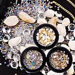 Недорогие -наряд стразы кристалл ногтей блеск кофейная кость бежевый белый наборы
