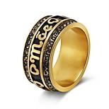 Недорогие -Муж. Жен. Классические кольца Сердце Мода Нержавеющая сталь Сердце Бижутерия Свадьба День рождения