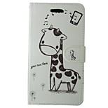 Недорогие -Кейс для Назначение Huawei P8 Lite Кошелек Бумажник для карт со стендом Флип Чехол Мультипликация Твердый Кожа PU для