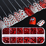 cheap -1set Luxury Sparkle Fashion Sequins Nail Glitter Red