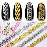 cheap -1pc Punk Fashion Art Deco / Retro Nail Glitter Silvery Gold