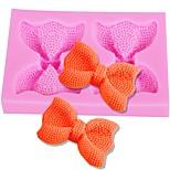 Недорогие -bowknots силиконовая форма свадебный торт украшая ремесло fondant прессформы конфеты мыло плесень аксессуары