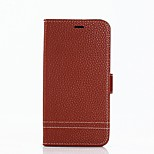 cheap -Case For Huawei P8 Lite (2017) P10 Lite Card Holder Wallet with Stand Flip Full Body Solid Color Hard PU Leather for P10 Lite P10 P9 Lite