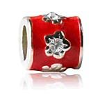 Недорогие -Ювелирные изделия DIY 1 штук Бусины Искусственный бриллиант Сплав Красный Цилиндр Шарик 0.5 cm DIY Ожерелье Браслеты