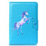 Недорогие -универсальный мультфильм unicorn pu кожаный чехол для подставки для 7 дюймов 8-дюймовый 9-дюймовый 10-дюймовый планшетный ПК