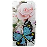 Недорогие -Кейс для Назначение Huawei P10 Кошелек Бумажник для карт со стендом Флип Бабочка Цветы Твердый для Huawei