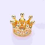 cheap -DIY Jewelry 1 pcs Beads Imitation Diamond Alloy Gold Silver Crown Bead 0.5 cm DIY Necklace Bracelet