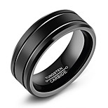 Недорогие -Муж. Классические кольца , Простой На каждый день Мода Титан Сталь Круглый Бижутерия Повседневные Официальные