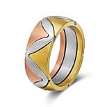 Недорогие -Муж. Жен. Классические кольца Этнический Цветной Нержавеющая сталь Волны Бижутерия Свадьба