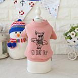 Недорогие -Собака Плащи Толстовка Одежда для собак Стиль Одежда для пляжа На каждый день Животные Буквы и цифры Белый Черный Серый Красный Костюм