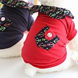 Недорогие -Собака Плащи Толстовка Одежда для собак Стиль Для отдыха Симпатичные Стиль Реактивная печать Пэчворк Красный Синий Костюм Для домашних