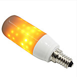 cheap -1pc 3W 250-280lm E14 G9 LED Corn Lights 76 LEDs SMD 2835 Flame Effect Yellow 1300-1800K AC 85-265V