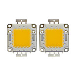 Недорогие -100w cob 8000lm 3000-3200k / 6000-6200k теплый белый / белый светодиодный чип dc30-36v 2шт