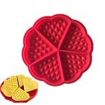 Недорогие -сердце формы вафельной формы 5-полости силиконовые печи кастрюлю печенье торт кексы приготовления пищи инструменты