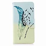 Недорогие -Кейс для Назначение Nokia Nokia 8 Nokia 6 Кошелек Бумажник для карт со стендом Флип С узором Чехол Перья Твердый Искусственная кожа для
